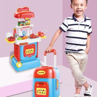 Խոհանոցային հավաքած ճամպրուկով